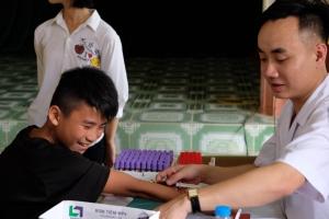 Sàng lọc Thalassemia miễn phí tại xã Minh Quang, huyện Chiêm Hóa, Tuyên Quang