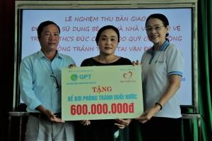 Tiếp tục bàn giao, đưa vào sử dụng bể bơi cho 02 tỉnh Quảng Ngãi, Quảng Nam