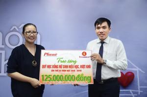 Quỹ Thiện Tâm tặng quỹ học bổng báo Phụ Nữ TP.HCM 125 triệu Đồng