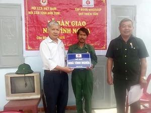 Năm 2018: Trao hơn 500 nhà tình nghĩa cho hội viên Hội Cựu chiến binh Việt Nam