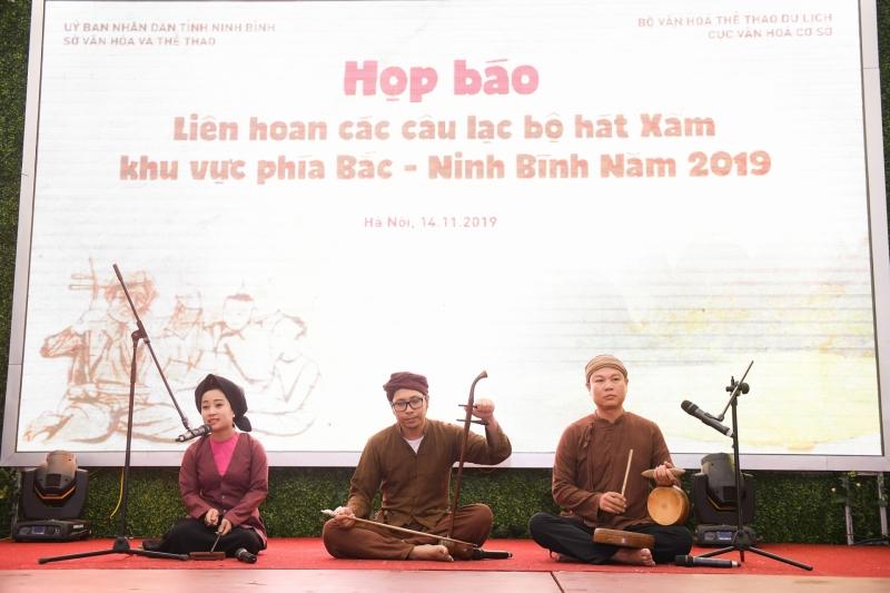 Họp báo Liên hoan các câu lạc bộ hát Xẩm khu vực phía Bắc – Ninh Bình năm 2019